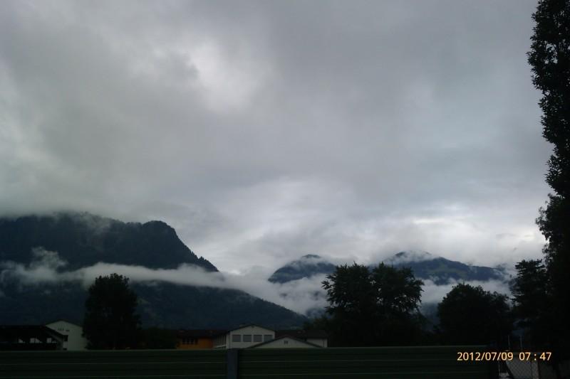Die Berge um Bludenz am Morgen.