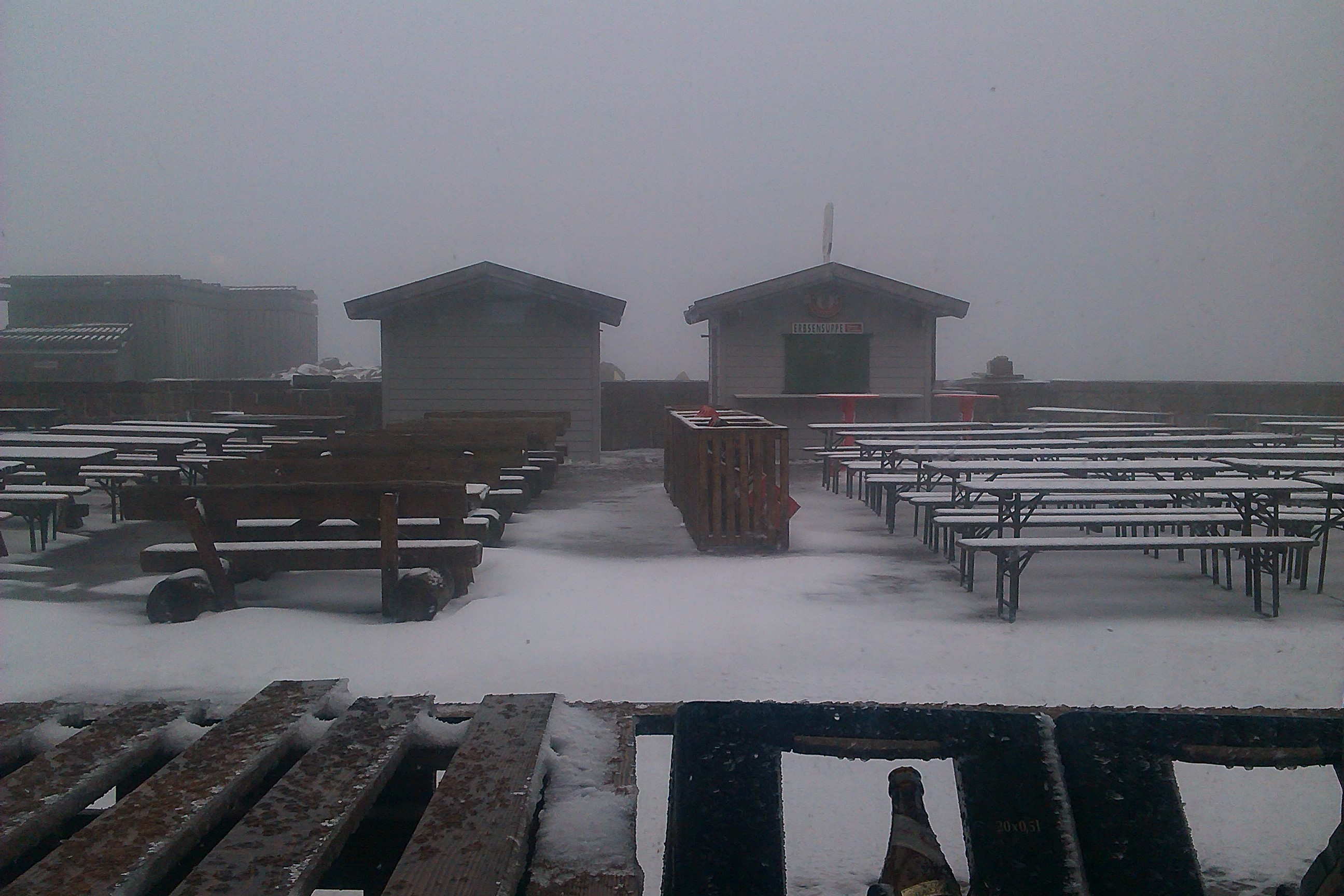 Der Biergarten auf dem Brocken ist gerade geschlossen...