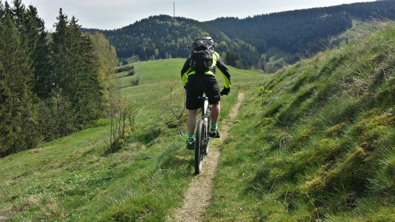 Mountenbiken im Oberharz (hier bei Wildemann)